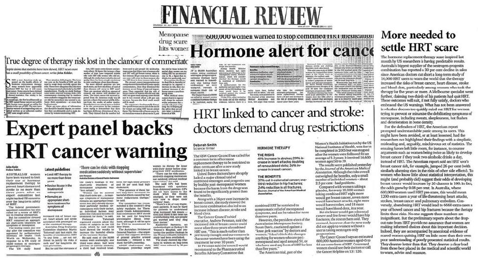 Women's Health Initiative headlines