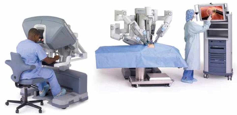 Robotic surgery set up