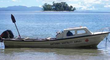 PNG maternal death survey boat