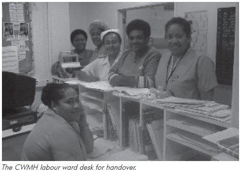 The CWMH labour ward desk for handover.