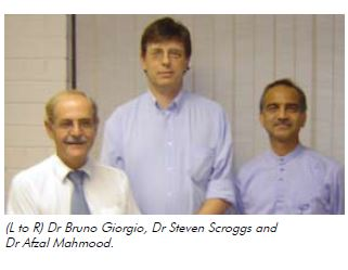(L to R) Dr Bruno Giorgio, Dr Steven Scroggs and Dr Afzal Mahmood.
