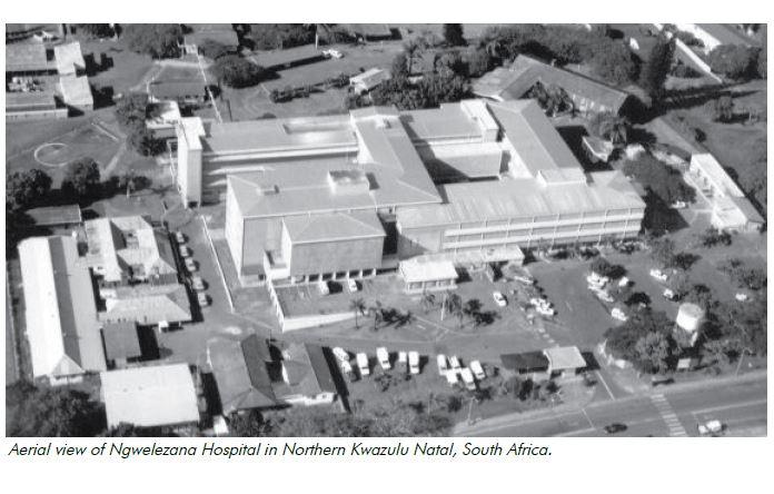 Aerial view of Ngwelezana Hospital in Northern Kwazulu Natal, South Africa.