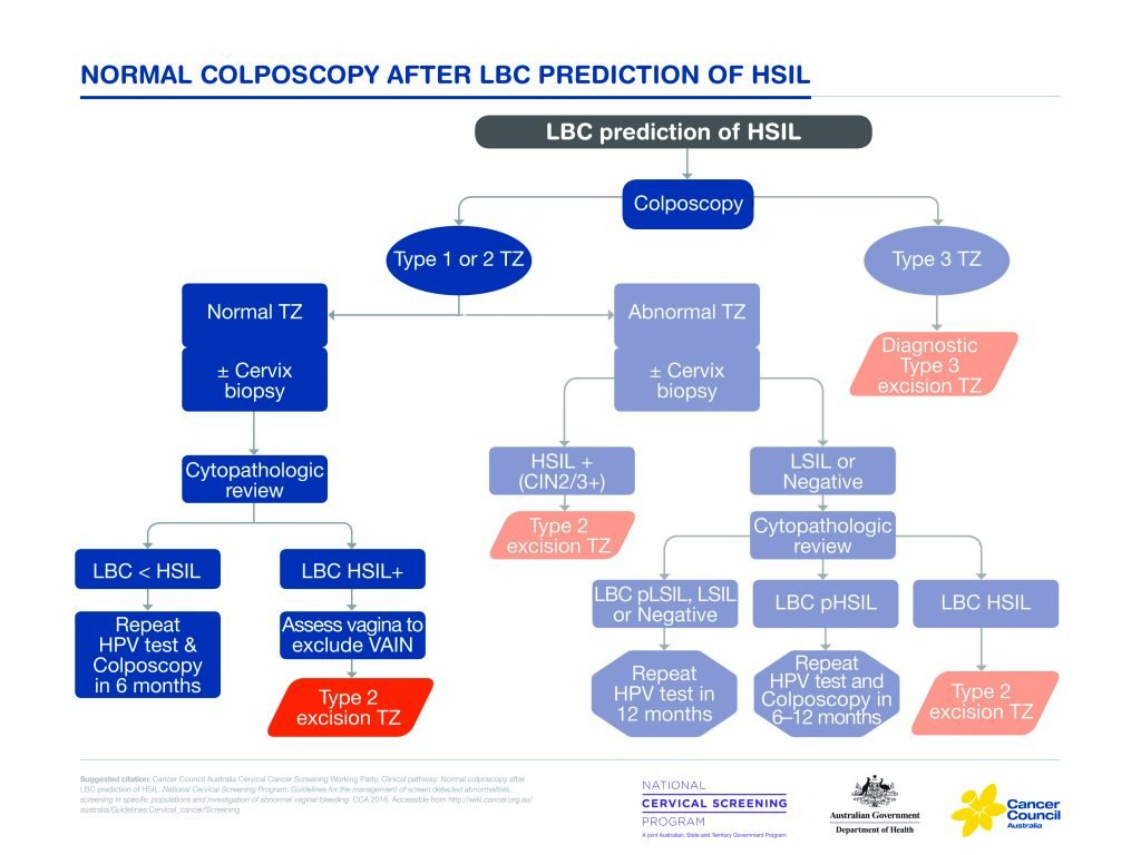 Figure 1. Normal colposcopy after LBC prediction of HSIL.